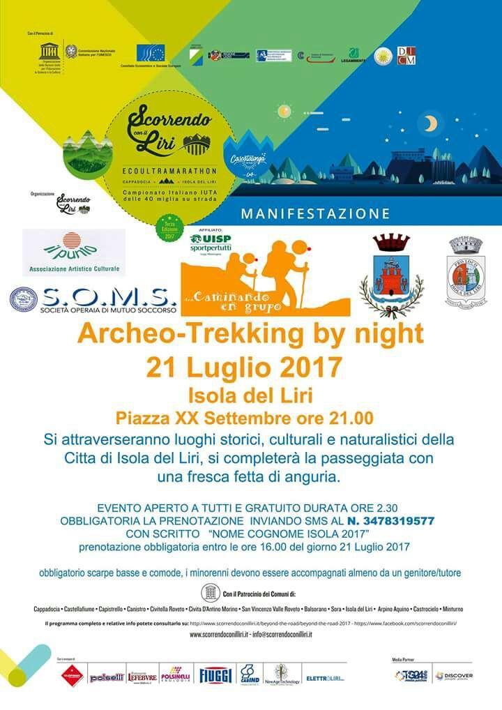 Archeo-trekking by night @ Isola del Liri | Isola del Liri | Italia
