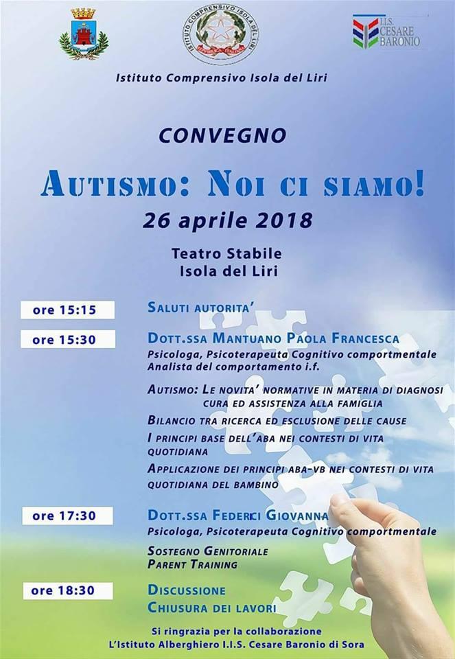 Convegno - Autismo: noi ci siamo! @ Isola del Liri | Isola del Liri | Lazio | Italia