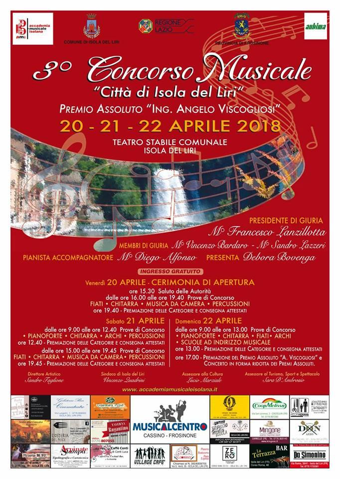 """3° Concorso Musicale Città di Isola del Liri @ Teatro Comunale """"Costantini""""   Isola del Liri   Lazio   Italia"""