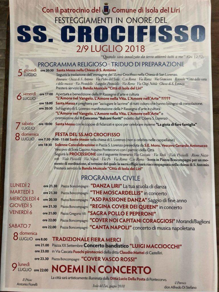 Festeggiamenti in onore del Ss. Crocifisso @ Isola del Liri | Isola del Liri | Lazio | Italia