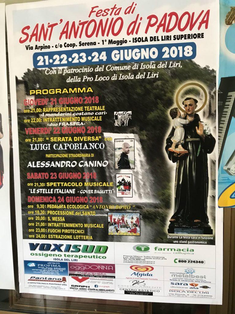 Festa di Sant'Antonio di Padova, Isola del Liri superiore @ Isola del Liri | Isola del Liri | Lazio | Italia