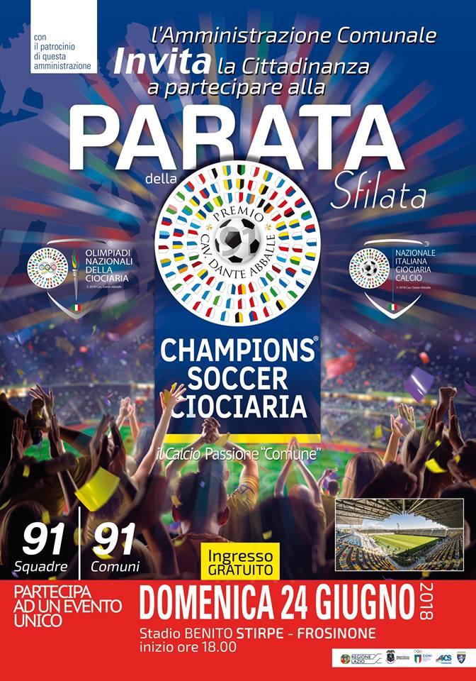Chamopions soccer Ciociaria