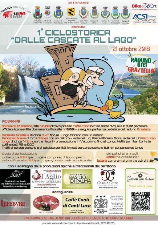 1^ ciclostorica dalle Cascate al Lago @ Isola del Liri