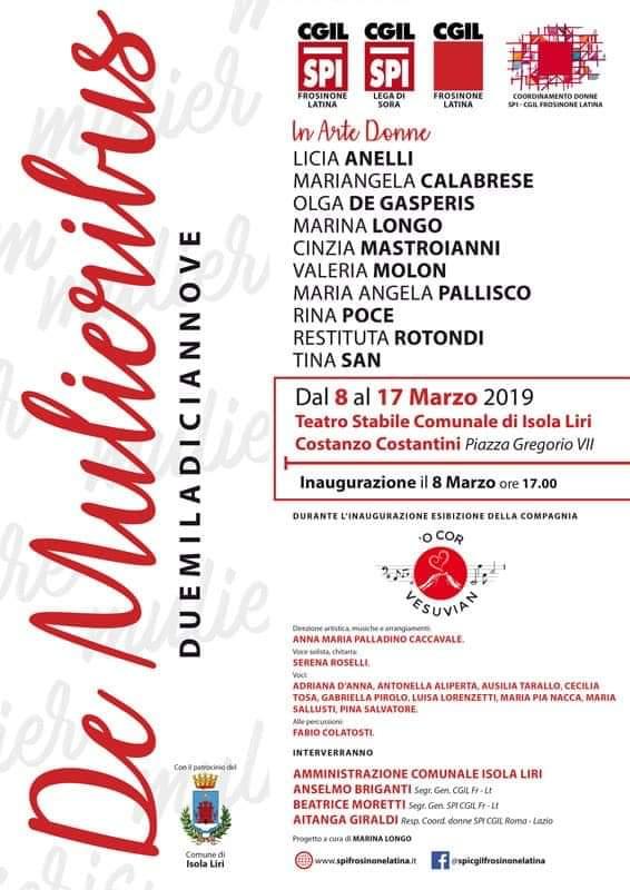 Mostra De Mulieribus, In Arte Donne @ Isola del Liri   Isola del Liri   Lazio   Italia