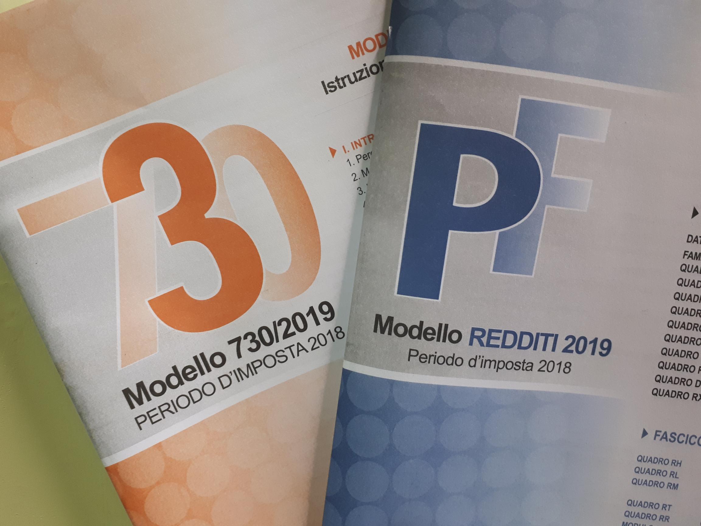 Disponibili Modelli 730/2019 e PF 2019