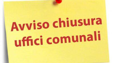 Chiusura temporanea uffici di Via Mascagni