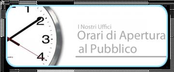 Disposizioni per apertura al pubblico degli uffici comunali