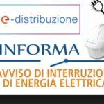 Interruzione elettrica il 12 ottobre 2017