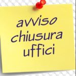 Chiusura Ufficio Anagrafe e Stato Civile